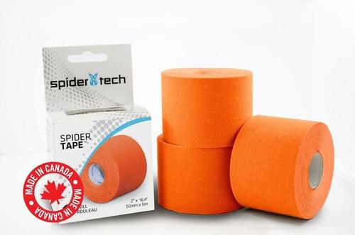 tape cintas spidertech kinesio 5 mt x 5cm viene en 7 colores