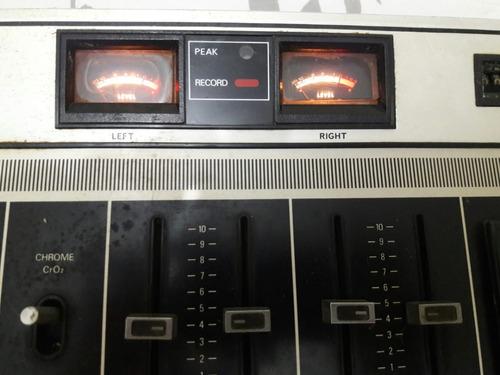 tape deck evadin td7218 gravador antigo - no estado