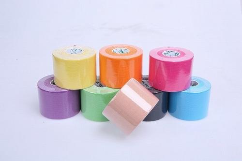 tape kinesiologico cinta alivia 5 cm ancho x  5mt largo