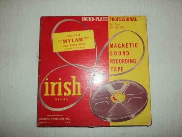 Tape Magnético P/ Gravação- Irish Brend- 1250 Ft- Usa
