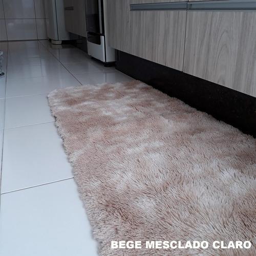 tapete 1,50x0,50 super peludo passadeira quarto corredor