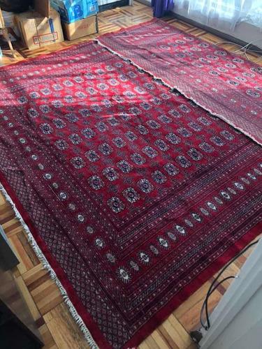 tapete /alfombra bokhara - 370x280 - hecha a mano