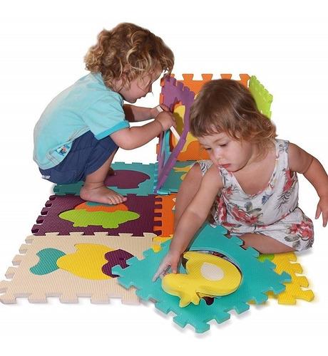 tapete alfombra foamy didáctico figuras 30 piezas piso