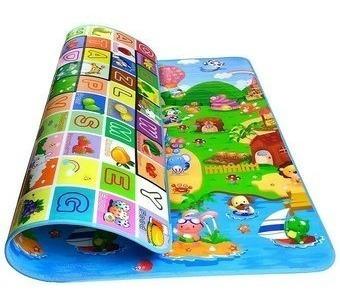 tapete alfombra infantil niños bebé gateo letras 2.00 x 1.80