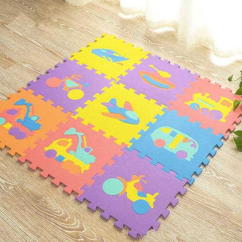 tapete alfombra mat puzzle de espuma eva 9 pzs transporte