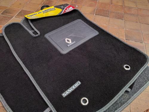 tapete alfombra renault sandero 3 piezas carros accesorios
