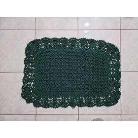 Tapete Artesanal 3d Em Crochê (pequeno)