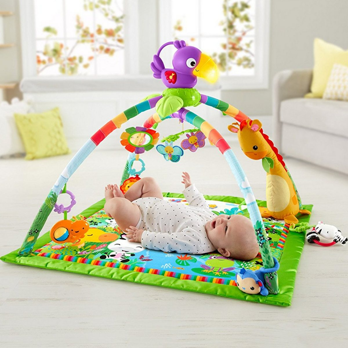 Tapete Atividades Bebe Fisher Price Rainforest Gym Luxe