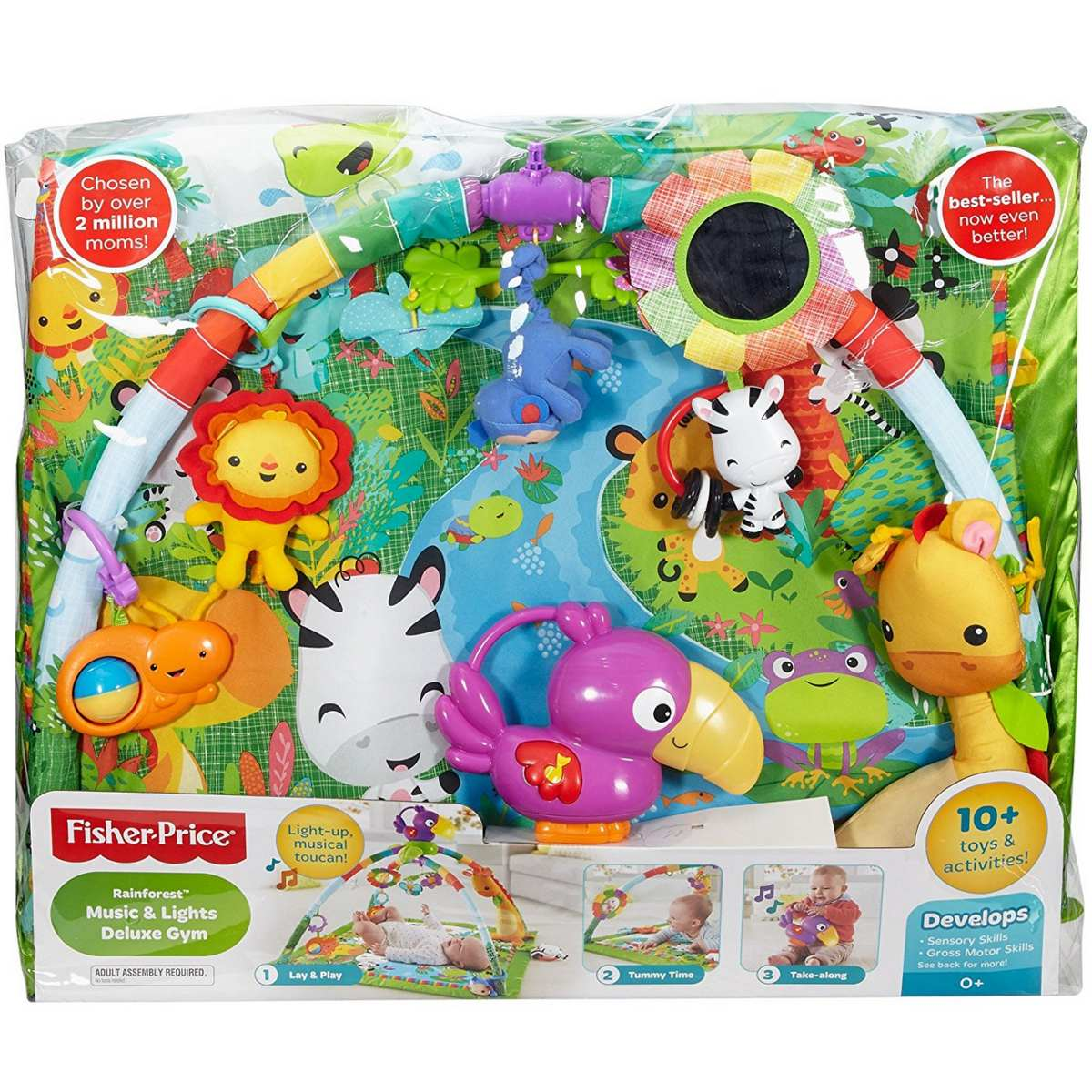 Tapete atividades bebe fisher price rainforest gym luxe - Tapis d eveil fisher price zoo deluxe ...