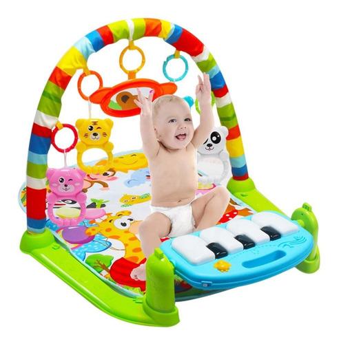 tapete atividades ginásio piano musical luz bebê verde rosa