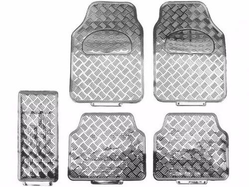 tapete automotivo prata  5 peças - frete gratis + 12x sj