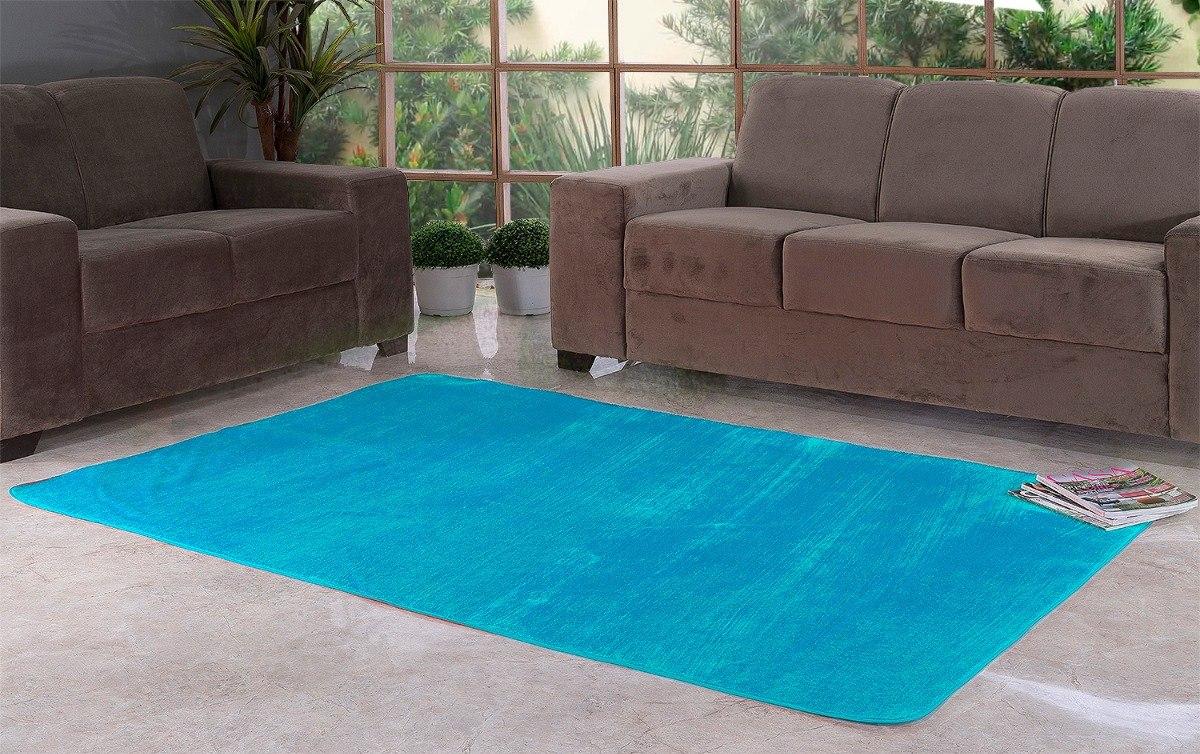 Tapete Azul Turquesa Pel Cia Liso 2 00m X 1 40m Quarto Sala R 108  -> Cadeiras Acrilico Azul Turquesa