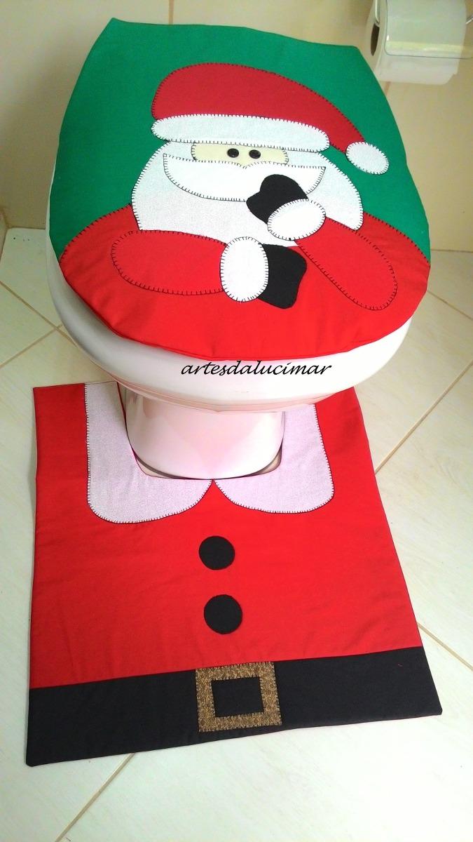 Tapete Banheiro Natal Papai Noel Carregando Zoom