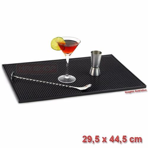 tapete bar mat runner escorredor copo cozinha preto barman