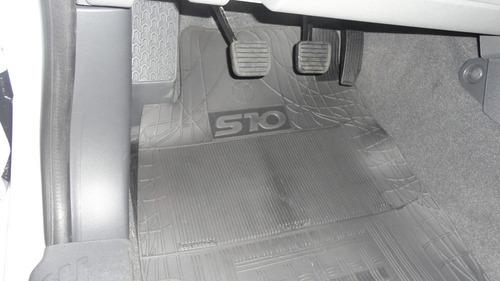 tapete borracha personalizado gol 4 portas  original preto