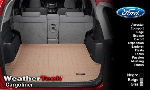 tapete cajuela ford cl2 uso rudo weathertech cargoliner