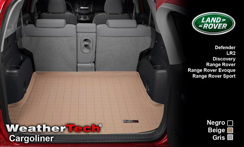tapete cajuela land rover uso rudo weathertech cargoliner