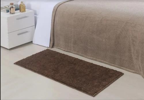 tapete cama pelo baixo toque macio 50cmx80cm antiderrapante