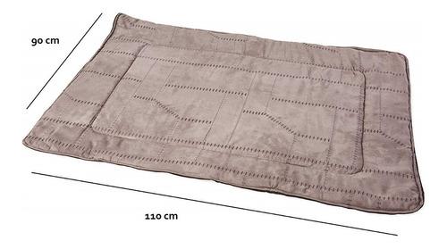 tapete cama perro arabesque grande gris 110x90cm c/envío