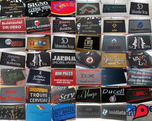 tapete capacho 180x60 personalizado logomarca empresa loja