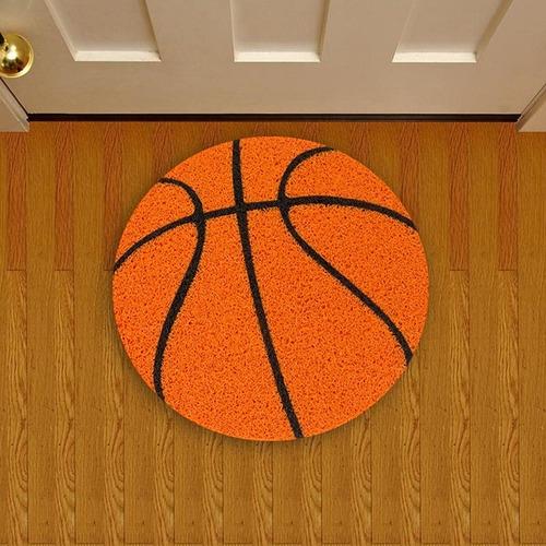 tapete capacho criativo bola de basquete