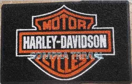 tapete capacho harley davidson em 90x60 + frete grátis em 12