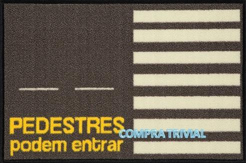 tapete capacho pedestres podem entrar - com borda rebaixada