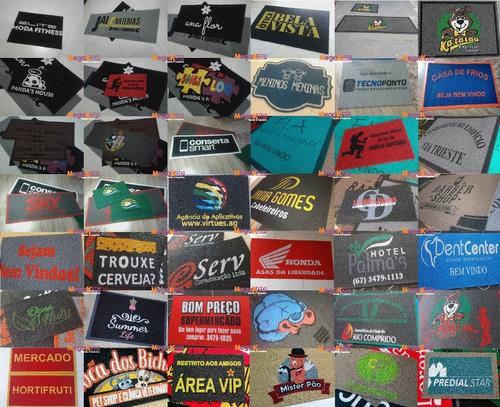 tapete capacho personalizado 120x80 sua logo + frete grátis