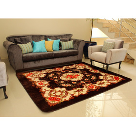 Tapete Carpete  Sala Veludo Estampado Tipo Indiano 1,50x2,00