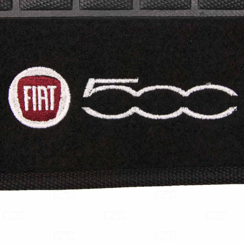 tapete carpete 500 preto 10 11 12 13 14 logo bordado