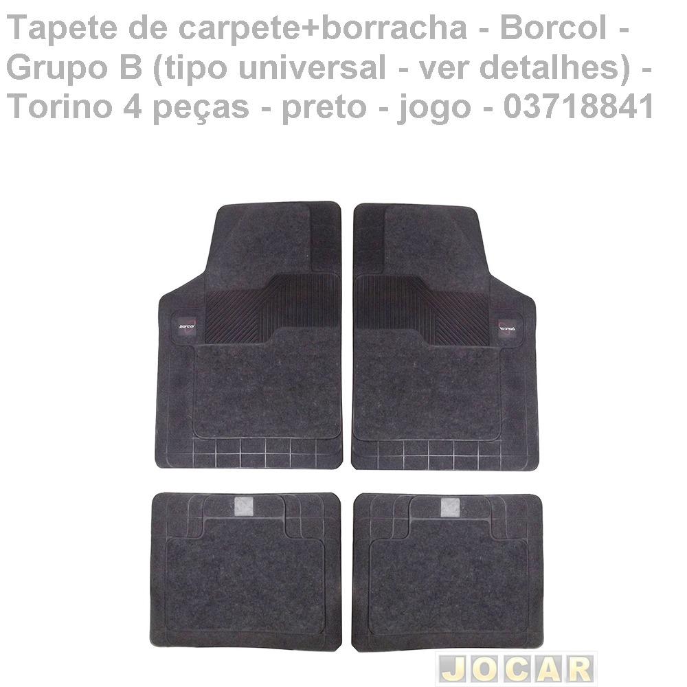 daa67f83f18 Tapete Carpete+borracha-borcol-torino 4 Pç-preto-03718841 - R  194 ...