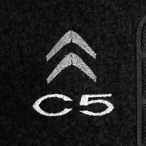 tapete carpete c5 grafite 01 á 12 bordado 2 lados dianteiro