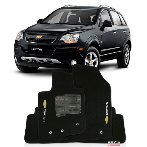 tapete carpete confort bordado chevrolet captiva - 3 pçs