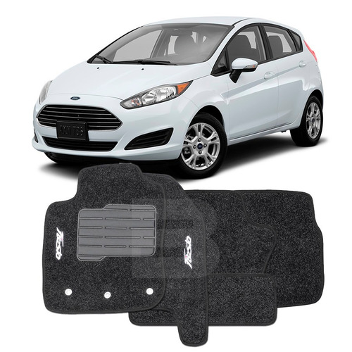 tapete carpete confort bordado ford new fiesta 2015 16 17