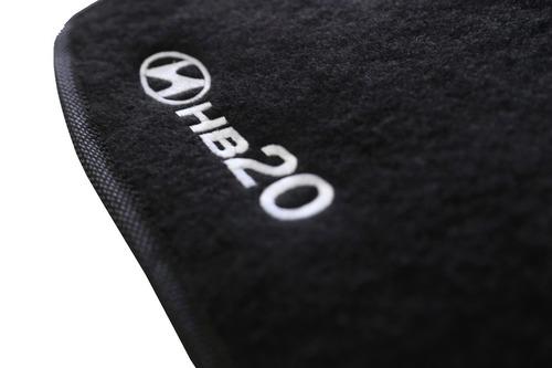 tapete carpete confort hyundai hb20 5 peças
