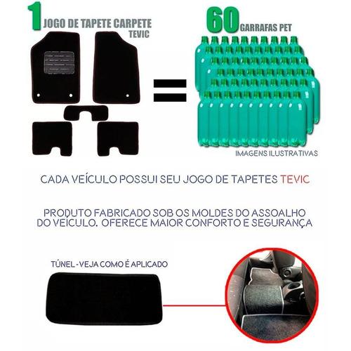 tapete carpete confort kia picanto 2005 / 2011 - 5 peças