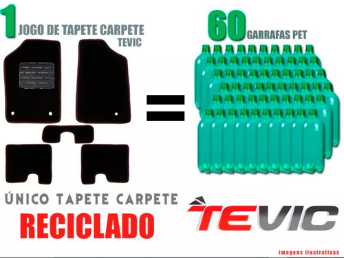 tapete carpete confort troller 2010 11 12 13 14 - 5 pçs