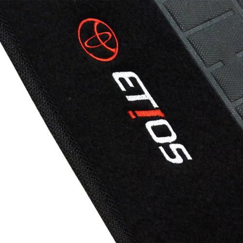 tapete carpete etios sedan 2012 2013 2014 2015 preto c/ logo