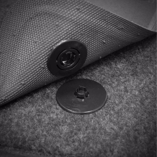 tapete carpete fluence gt preto 13 14 logo bordado 2 lados