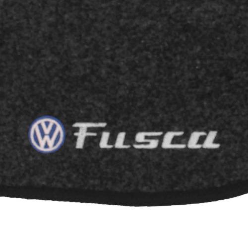 tapete carpete fusca grafite 2013 2014 logo bordado