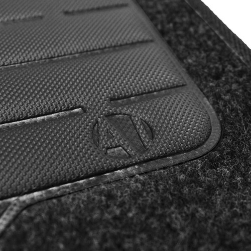 tapete carpete golf preto 2014 logo bordado