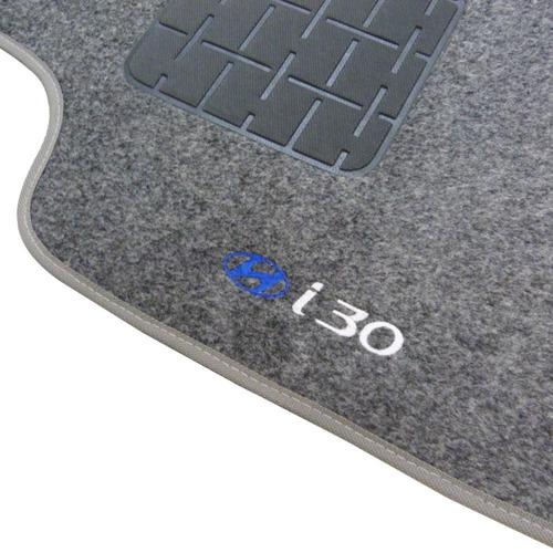 tapete carpete grafite hyundai i30 09 2010 2011 2012 c/ logo