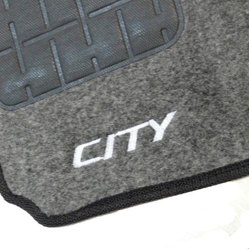 tapete carpete honda city 09 10 11 12 13 14 c/ logo grafite