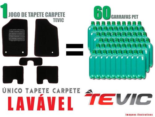 tapete carpete lavável vw jetta 2012 13 14 15 16 bege 5 pçs