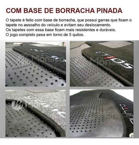 tapete carpete megane 07 08 09 10 11 12 13 base borracha