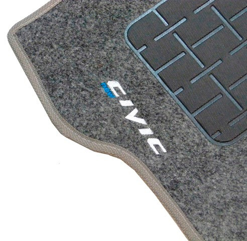tapete carpete new civic 2007 a 2013 c/ logo grafite