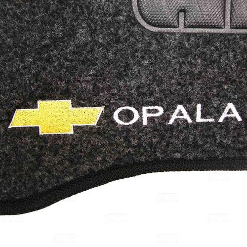 tapete carpete opala grafite 73 á 92 logo bordado 2 lados