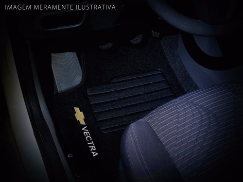 tapete carpete vectra 97 98 99 00 01 02 03 04 05 preto logo