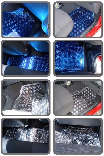 tapete carro tuning automotivo alumínio cromado 5 peças