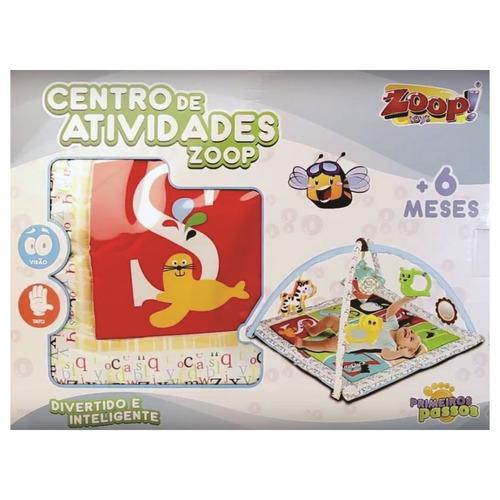 tapete centro de atividades zoop toys primeiros passos bebe